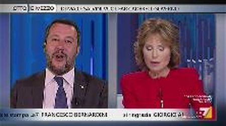 """Gruber a Salvini: """"Fiori mai arrivati. Anche sue promesse elettorali sono così farlocche?"""""""