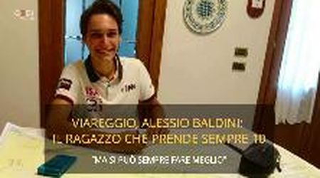 Viareggio, Alessio Baldini è lo studente migliore della Versilia