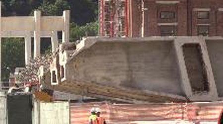 Genova, la prima colata di calcestruzzo del nuovo ponte