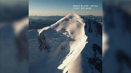In volo con gli sci, l'impresa di Giraud sul Monte Bianco