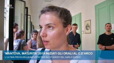 Primo giorno di orali all'istituto Carlo d'Arco di Mantova
