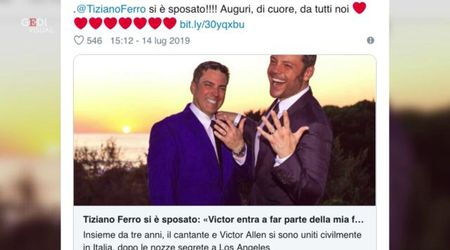 Tiziano Ferro si è sposato con il compagno: ecco chi è Victor Allen
