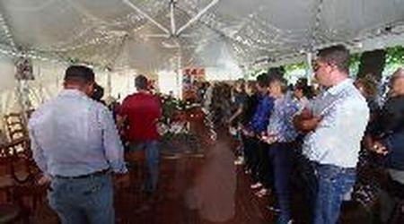 L'addio all'ingegnere, i colleghi del Cadf ai funerali di Nicola Forlani
