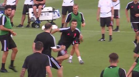"Juventus, Sarri si esalta per una giocata veloce Ronaldo-Higuain: ""Oh, ora mi piace"""