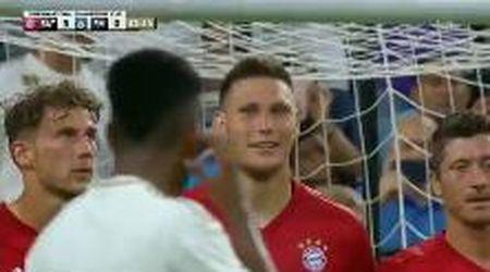 """""""Dai, provaci"""": il difensore del Bayern zittito dalla punizione magica di Rodrygo, stella del Real"""