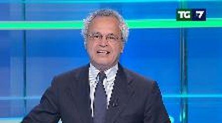"""Enrico Mentana, lo studio va a fuoco in diretta: """"A domani, fiamme permettendo"""""""