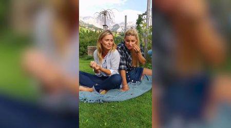 Stella alpina, la risposta di Michelle Hunziker alla polemica è un siparietto con Serena Autieri