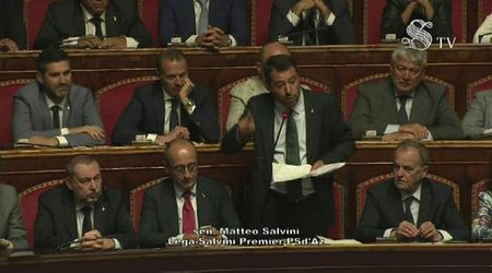Crisi di governo, l'intervento di Matteo Salvini in Senato: integrale