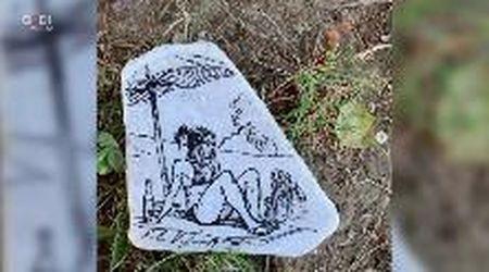 L'arte è una caccia al tesoro: Kopinski dipinge tre pietre e le nasconde a Lucca