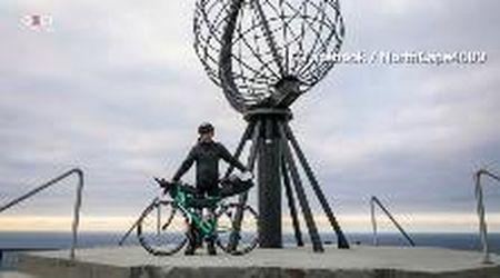 Vivaldo Lleshi in bici da Torino a Capo Nord unendo design e prevenzione del cancro
