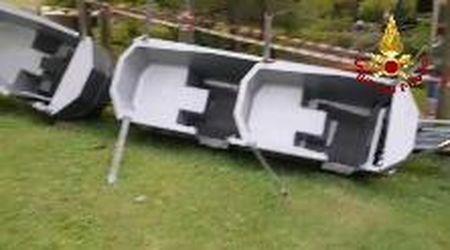 Deraglia la monorotaia del parco Movieland, sette feriti