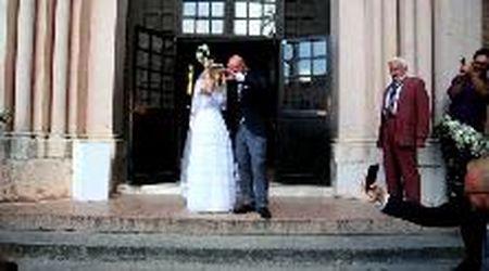 Carlotta e Lorenzo Rossi Sturani, il figlio di Vasco, finalmente sposi