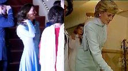 Pakistan, Kate Middleton rende omaggio a Lady D: l'abito tradizonale è simile a quello di Diana