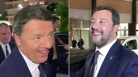 """Porta a Porta backstage: Renzi """"ruba"""" l'auto di Salvini, il leghista sfida in tv """"Giuseppi"""" Conte"""