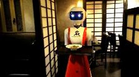 Pistoia, la cameriera al ristorante è un robot