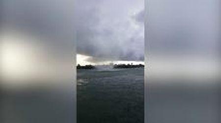 Tromba d'aria nel canale di Marano, danni e paura