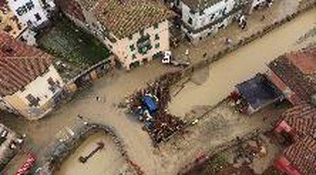 Alluvione Castelletto d'Orba, 80 evacuati: le immagini dal drone