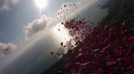 Gb, dal cielo piovono decine di migliaia di petali di papavero: è l'omaggio ai caduti in guerra