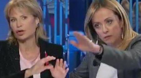 """Antisemitismo, lite Gruber Meloni in diretta tv: """"Le faccio togliere l'audio"""""""