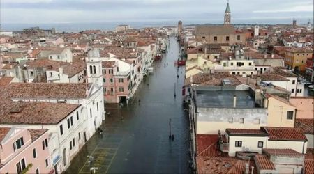 Acqua alta, Chioggia il giorno dopo il disastro. La città ancora sommersa vista dall'alto