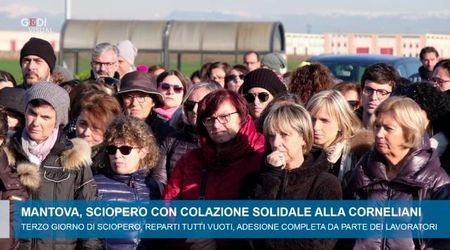 Sciopero con colazione solidale alla Corneliani di Mantova