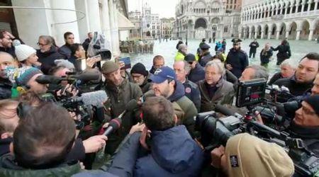 Maltempo, Matteo Salvini in sopralluogo a Venezia