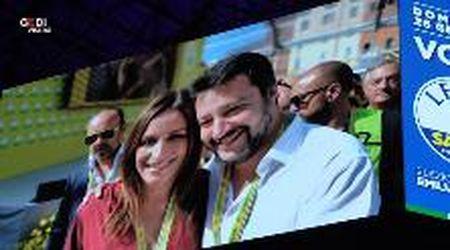 Regionali, Matteo Salvini presenta la candidata Borgonzoni