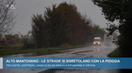 Maltempo: le strade del Mantovano si sgretolano