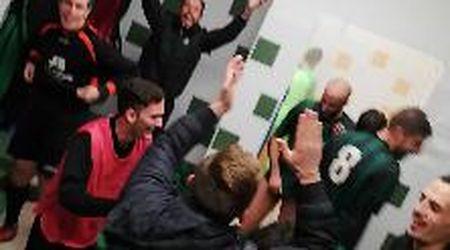 Calcio dilettanti, Coppa Toscana: il pari premia il Corsagna. La festa negli spogliatoi