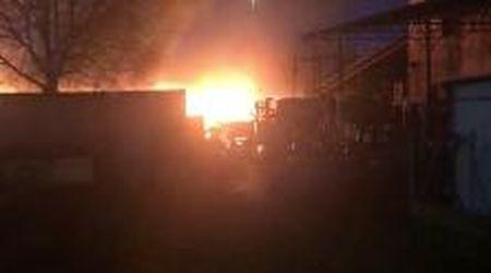 Padova, le immagini dell'incendio all'acetilene