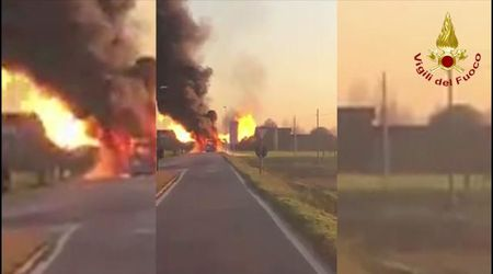 Marcon, autobus Actv in fiamme: il video del rogo