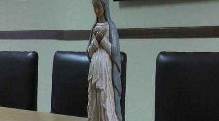 Ritrovata la statuetta di Maria rubata in Duomo: la soddisfazione del parroco