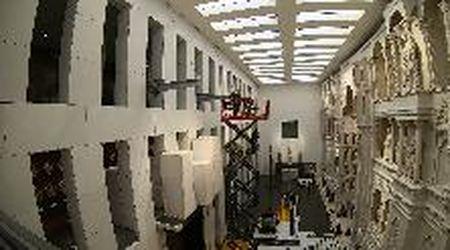Le tre porte del Battistero di Firenze insieme dopo 30 anni, il montaggio in timelapse