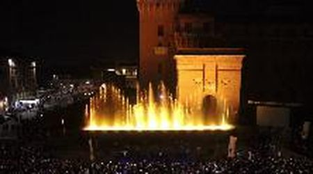 Ferrara, lo spettacolo delle fontane danzanti