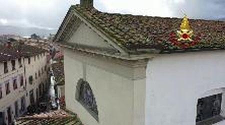 Terremoto a Barberino, i danni alla parrocchia di San Sivestro ripresi dal drone dei vigili del fuoco