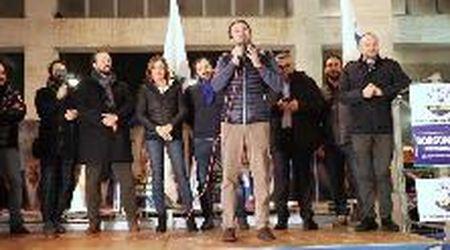 Matteo Salvini a Ferrara, il comizio con Lucia Borgonzoni