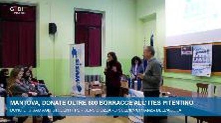 Mantova, donate oltre 600 borracce all'Ites Pitentino