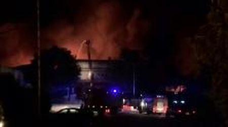 Larciano, incendio alla filatura Delta di Castelmartini