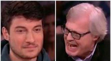 """Sgarbi attacca la sardina: """"Non avete punti di riferimento"""". La replica: """"Il mio è Liliana Segre"""""""