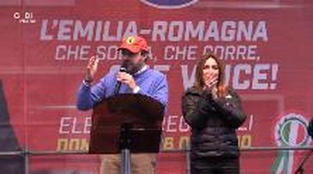 Salvini con la Borgonzoni a Maranello