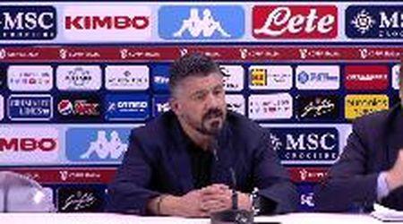 "Napoli, Gattuso ai giornalisti: ""Fate i bravi"""