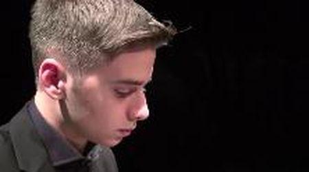 """Matteo, 14 anni, prodigio del piano: """"Il mio sogno? Suonare Rachmaninov a Totti"""""""