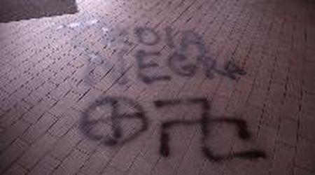 Rezzato, vetrina sfondata e scritte naziste nel bar gestito da una ragazza italo-marocchina