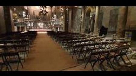 Quaresima, la messa in solitaria del patriarca nella basilica di San Marco