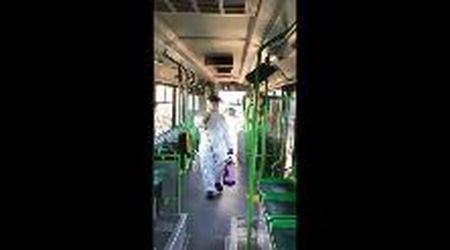 Coronavirus a Treviso: ecco come vengono disinfestati i bus
