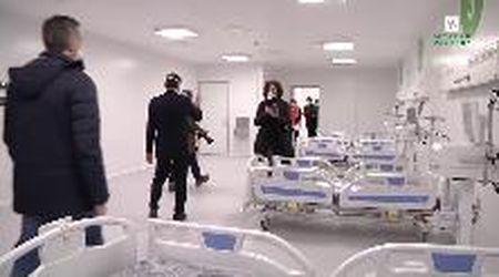 """Coronavirus, l'ospedale della Fiera di Milano benedetto da Delpini. """"Primi pazienti tra domenica e lunedì"""""""
