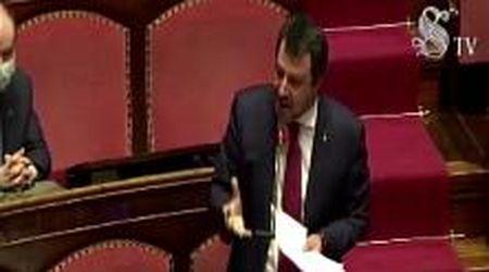 """Coronavirus, Salvini: """"Se Conte o Gualtieri firmeranno anche mezzo Mes, sfiducia in parlamento"""""""