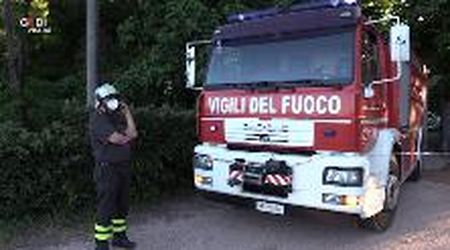 Castelfranco, incendio nell'ex mulino ristrutturato