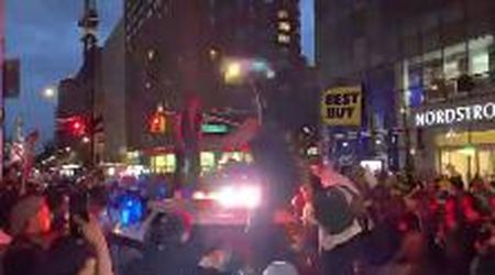 """Morte George Floyd, sembra una scena di """"Joker"""" ma sono le proteste a New York"""