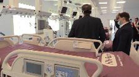 Il ministro Speranza ha inaugurato l'Hub della terapia intensiva a Baggiovara